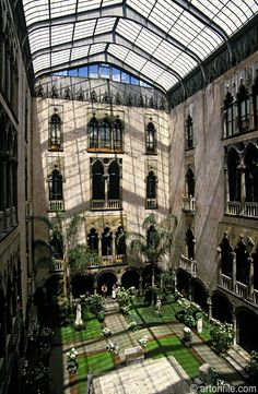 "Isabella Stewart Gardner Museum courtyard, Boston. I remember seeing pictures of the museum when I was a kid and wanting to live there; after seeing the ""real thing"" a few years ago, I still do!"