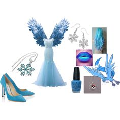 Articuno Cosplay Idea by katie-lutz on Polyvore featuring Natures Jewelry, Disney and OPI