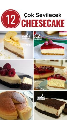 10 Minuets : 12 Measured Cheesecake Recipe with Full Measure - Delicious Recipes Christmas Cheesecake, Pumpkin Cheesecake, Easy Cheesecake Recipes, Cheesecake Bites, Types Of Cakes, Christmas Drinks, Yummy Cakes, Yummy Food, Delicious Recipes