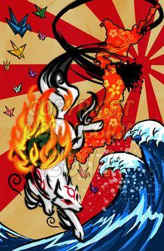 Okami Print by NomLegion on Etsy, $7.00