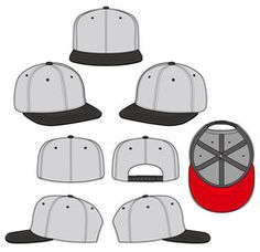 SNAPBACK color 2018 vector illustration flat sketches template