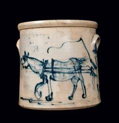 New York State & New England Stoneware - Crocker Farm Stoneware Auction