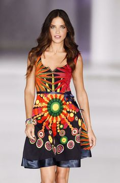 fig.: In mid-April 2014, Desigual announced that Brazilian model Adriana Lima is the label's first ambassador and will appear in campaigns SS14 and FW14 under the motto 'La vida es chula'.