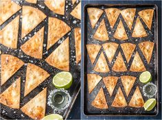 Tequila Lime BAKED Tortilla Chips, Baked and not Fried! Simple healthy chip recipe that's made in minutes at home with soft flour tortillas. THE FLAVOR IS AMAZING! Best homemade chip recipe ever!