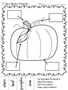 Label a Scarecrow Pumpkin.pdf label a pumpkin, lots of printables