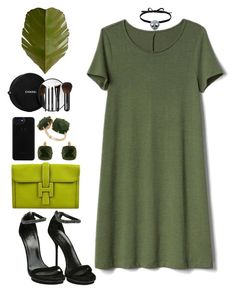 """""""Green"""" by avramraisa ❤ liked on Polyvore featuring Gucci, Gap, Hermès, Les Néréides, Chanel, Varaluz, Joomi Lim, PINTRILL and GREEN"""