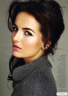 Camilla Belle - make up; eyebrows