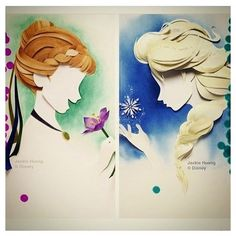 #mulpix .  .  Este arte de papel fresco!  .   #Elsa #Disney #frozen #sisters #anna #art