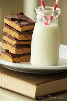 Take a Break with Chocolate Peanut Butter Bars - girl. Inspired.