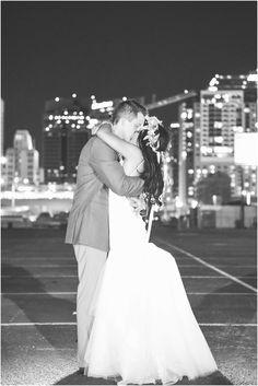Downtown City Lights Wedding Photos. Monique Hessler Photography. The Croft Downtown #unique #urban #wedding #photography