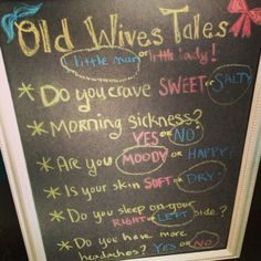 Event Ideas | Old wives tales for gender reveal party