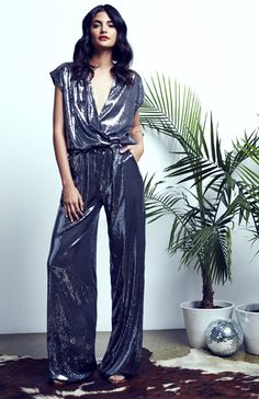 Ripley Rader Sequin Jumpsuit. S/S15 Collection. Available for PRE-ORDER @ www.ripleyraderstyle.com