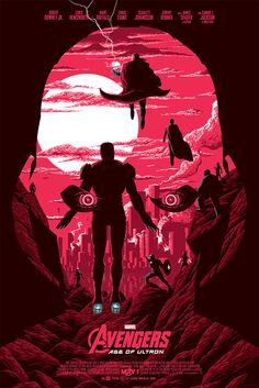 "Avengers: Age of Ultron || Ultron, Tony Stark, Thor Odinson, Vision, Bruce Banner, Natasha Romanoff, Steve Rogers, Clint Barton, Wanda Maximoff, Pietro Maximoff || by Florey || 667px x 1000px || #fanart || $55, 24"" x 36"""