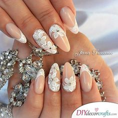 ideas vintage wedding nails manicures brides You are in the right place about vintage wedding nails Here we offer you the most beautiful pictures about the Vintage Wedding Nails, Vintage Nails, Wedding Nails For Bride, Wedding Nails Design, Bride Nails, Boho Wedding, Wedding Manicure, Cute Nails, Pretty Nails