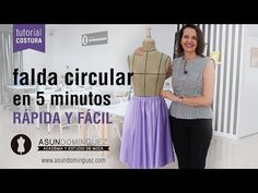 Tutorial: Falda circular en 5 minutos - ASUN DOMINGUEZ ACADEMIA - YouTube