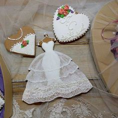 Likes, 66 Comments - whatsApp 8 ( on In. Fancy Cookies, Iced Cookies, Cute Cookies, Royal Icing Cookies, Sugar Cookies, Wedding Dress Cookies, Wedding Shower Cookies, Bridal Shower, Cupcakes