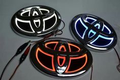 Here have our Toyota Illuminated LED Car Badge Light As you can see these new badges are very different from our other and LED badges they - Today Pin Toyota Vios, Toyota Venza, Used Toyota, Toyota Trucks, Toyota 4runner, Toyota Tacoma, Toyota Corolla, Toyota Tundra 4x4, Cars