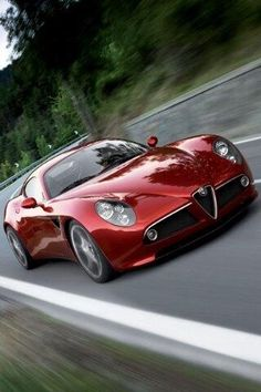 Red Alfa Romeo C8 ... Oh, like someone would actually want one. So, OK. Maybe that 'someone' is me.
