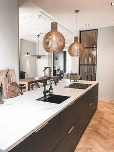 Kitchen Room Design, Kitchen Interior, New Kitchen, Home Interior Design, Kitchen Dining, Kitchen Decor, Home Living Room, Interior Inspiration, Home Kitchens