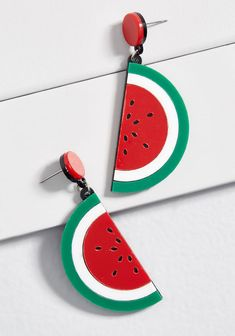 ba75cc8f3 Collectif Seeing Seeds Watermelon Earrings in Multi Modcloth