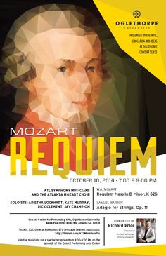 ATL Symphony Musicians & Atlanta Mozart Choir present Mozart's Requiem. Designed this poster to support the locked-out musicians of the Atlanta Symphony Orchestra. Oh yeah. I'll be singing in this concert too! By @amvillalobos