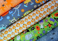 Halloween Fabric Bundle from Riley Blake by SouthernStitchFabric