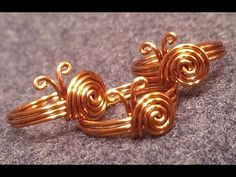 Tutorial simple snails ring for beginners - How to make wire jewelery - YouTube