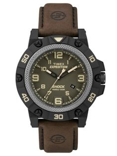 Shop for Timex Men's Expedition Field Shock Black Watch. Get free delivery On EVERYTHING* Overstock - Your Online Watches Store! Timex Expedition, Timex Watches, Men's Watches, Amazing Watches, Sport, Casio Watch, Green And Brown, Man, Watches For Men