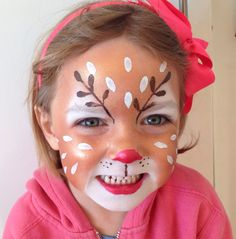 Reindeer: Face Paint by Sarah Haddon More