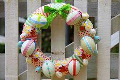 9 simples DIY grinaldas e festões de Páscoa | Shelterness