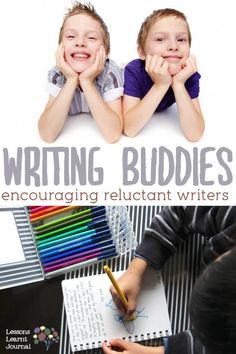Writing buddies for kids, because writing alone, in silence isn't everybody's thing. ~via Lessons Learnt Journal