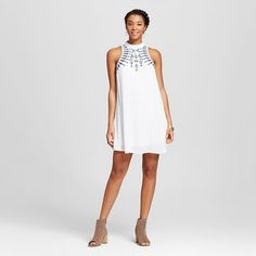 Women's Embroidered Mock Neck Shift Dress - Lots of Love by Speechless (Juniors') : Target