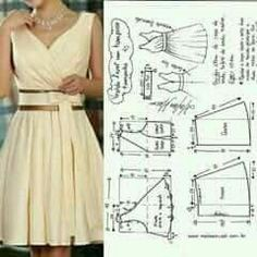 How To Make Clothes Sewing Hacks Sewing Projects Clothing Patterns Dress Patterns Sewing Patterns Sewing Clothes Diy Clothes Fashion Sketchbook Dress Sewing Patterns, Sewing Patterns Free, Clothing Patterns, Fashion Sewing, Diy Fashion, Ideias Fashion, Diy Clothing, Sewing Clothes, Costura Fashion