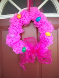 Fun and easy.. Pretty Easter wreath