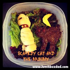 Lunchbox Dad: Scaredy Cat and The Mummy Halloween Lunch