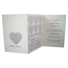 Celtic Knot Wedding Day Invitations, I love this option. It's easy and all on one page except the return card.
