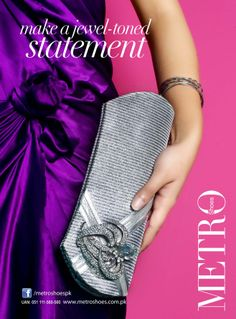 www.metroshoes.com.pk. Another jewel toned clutch by Metroshoes. It has everything to show off.