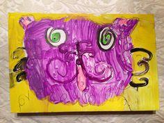 Purple Cat  Gabrielle age 4