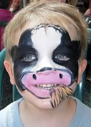 Image result for simple face painting farm animals