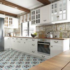 Kitchen Cabinets : Cucina in stile mediterraneo di ROAS 3d VISUAL ARTS