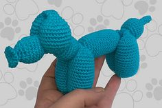 Balloon Dog + how-to-fold: free crochet pattern (Dutch and English)... So cool!