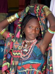 Africa | Girl from the Umm Bororo tribe.  Sudan | ©Vít Hassan