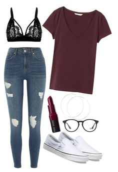 """#151"" by mintgreenb on Polyvore featuring River Island, H&M, Vans, Bobbi Brown Cosmetics and Ray-Ban"
