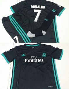 youth 159099 2017 18 children youth real madrid away soccer jersey shorts set s.