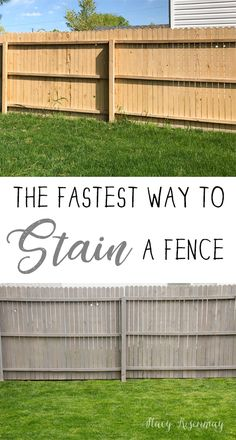 Fastest Way To Stain A fence! Tips and tricks to make it an easy experience.