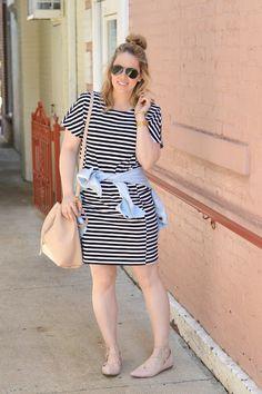 Casual summer stripe dress.