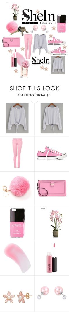 """CONTEST: SheIn"" by mandimwpink ❤ liked on Polyvore featuring Love Moschino, Converse, Avon, Kate Spade, Iphoria, Charlotte Tilbury, MAC Cosmetics, ADORNIA, Tommy Hilfiger and Sheinside"
