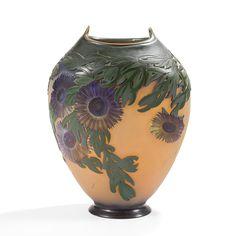 LE VERRE FRANÇAIS - Halbrans, circa 1924 / 27 - Vase fourreau à large col ourlé [...], Arts Décoratifs & Sculptures du XXe siècle at Ader   Auction.fr