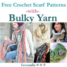 29+ Free Crochet Scarf Patterns Using Bulky Yarn