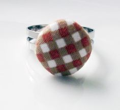 Buy 2 rings Get 1 free fabric light brown by rabbitsillusions, €2.00